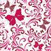 Бесшовный фон с розовыми растительными элементами и бабочками, иллюстрация № 3161527 (c) Ольга Дроздова / Фотобанк Лори