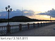 Набережная в городе Биробиджане. Стоковое фото, фотограф Ольга Разуваева / Фотобанк Лори