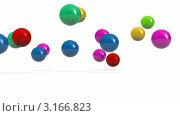 Купить «Прыгающие разноцветные мячи», видеоролик № 3166823, снято 22 января 2012 г. (c) Виктор Застольский / Фотобанк Лори