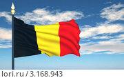Купить «Флаг Бельгии, развевающийся на фоне неба», видеоролик № 3168943, снято 20 января 2012 г. (c) Михаил / Фотобанк Лори