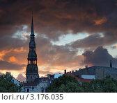 Собор Св. Петра. Рига, Латвия. (2008 год). Стоковое фото, фотограф Jelena Dautova / Фотобанк Лори