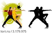 Купить «Пара танцует танго», иллюстрация № 3179975 (c) Vasiliev Sergey / Фотобанк Лори