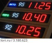 Купить «Цена на бензин», фото № 3180623, снято 3 января 2012 г. (c) FMRU / Фотобанк Лори