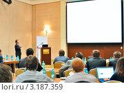 Конференция, презентация, собрание в аудитории. Стоковое фото, фотограф Maximilian Pogonii / Фотобанк Лори