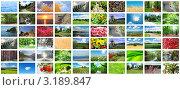 Купить «Коллаж из фотографий красивой природы и пейзажей», фото № 3189847, снято 12 октября 2011 г. (c) Elnur / Фотобанк Лори