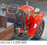 Кабина антикварного российского пожарного автомобиля. Стоковое фото, фотограф Jelena Dautova / Фотобанк Лори