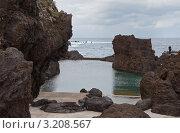 Купить «Остров Мадейра. Порту Мониш. Природные бассейны между вулканических скал», фото № 3208567, снято 26 декабря 2011 г. (c) Виктория Катьянова / Фотобанк Лори