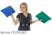 Девушка с документами. Стоковое фото, фотограф Валерий Александрович / Фотобанк Лори