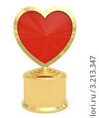 Купить «Золотая премия в форме сердца», иллюстрация № 3213347 (c) Марат Утимишев / Фотобанк Лори