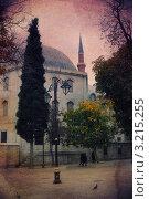 Купить «Стамбул. Стилизация под старую открытку», иллюстрация № 3215255 (c) Екатерина Шелыганова / Фотобанк Лори