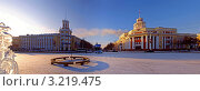 Купить «Город Кемерово. Нулевой километр.», эксклюзивное фото № 3219475, снято 3 февраля 2012 г. (c) Цибаев Алексей / Фотобанк Лори