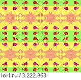 Купить «Абстрактный бесшовный фон с рыбами», иллюстрация № 3222863 (c) Андрей Ижаковский / Фотобанк Лори