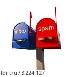 Купить «Два почтовых ящика: для деловых писем и спама», иллюстрация № 3224127 (c) Виктор Застольский / Фотобанк Лори
