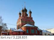 Купить «Ярославль, церковь Богоявления Господня», фото № 3228831, снято 28 января 2012 г. (c) ElenArt / Фотобанк Лори