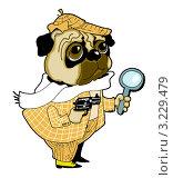 Купить «Собака-сыщик на белом фоне», иллюстрация № 3229479 (c) Vasiliev Sergey / Фотобанк Лори