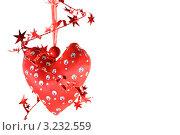 Красное декоративное сердце. Стоковое фото, фотограф Александр Фемяк / Фотобанк Лори