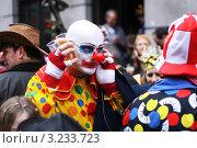 Клоун на карнавале (2011 год). Редакционное фото, фотограф Перевалова Ольга Геннадьевна / Фотобанк Лори