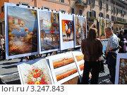 Купить «Рынок живописи. Рим.», фото № 3247843, снято 18 марта 2011 г. (c) Екатерина Шелыганова / Фотобанк Лори