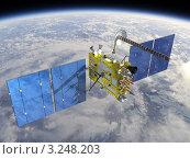 Купить «Современный навигационный спутник», иллюстрация № 3248203 (c) Александр Володин / Фотобанк Лори