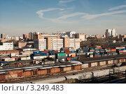 Купить «Москва. Железнодорожный узел», фото № 3249483, снято 5 апреля 2011 г. (c) Зобков Георгий / Фотобанк Лори