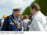 Купить «Ветеран Великой Отечественной войны. 9 мая 2011 года», фото № 3255055, снято 9 мая 2011 г. (c) Михаил Ворожцов / Фотобанк Лори