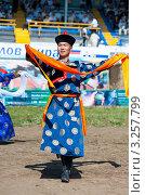 Купить «Молодой монгол исполняет национальный танец», фото № 3257799, снято 17 июля 2010 г. (c) Александр Подшивалов / Фотобанк Лори