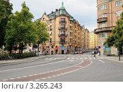 Велосипедная дорожка. Стокгольм. (2011 год). Редакционное фото, фотограф Сергей Разживин / Фотобанк Лори
