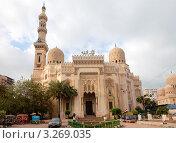 Купить «Вид на мечеть Эль-Мурси Абуль-Аббаса в центре города Александрии, Египет», фото № 3269035, снято 23 января 2012 г. (c) Николай Винокуров / Фотобанк Лори