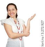 Купить «Портрет улыбающейся пожилой женщины в белом платье», фото № 3272927, снято 19 марта 2011 г. (c) Дарья Филимонова / Фотобанк Лори