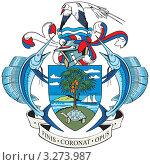 Купить «Герб Республики Сейшельские Острова», иллюстрация № 3273987 (c) Геннадий Поддубный / Фотобанк Лори
