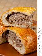 Купить «Пирог с мясом», фото № 3274679, снято 11 октября 2011 г. (c) ElenArt / Фотобанк Лори