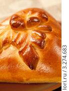 Купить «Русские пироги - кулебяка», фото № 3274683, снято 11 октября 2011 г. (c) ElenArt / Фотобанк Лори