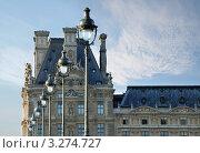 Купить «Фонари и Лувр. Париж, Франция», фото № 3274727, снято 4 декабря 2006 г. (c) Jelena Dautova / Фотобанк Лори