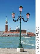 Собор Сан-Джорджо Маджоре и набережная. Венеция, Италия (2007 год). Стоковое фото, фотограф Jelena Dautova / Фотобанк Лори
