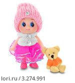 Кукла с медвежонком. Стоковое фото, фотограф Olsi / Фотобанк Лори