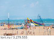 Купить «Пляж в Витязеве, Анапа», фото № 3279555, снято 12 июня 2011 г. (c) Володина Ольга / Фотобанк Лори