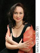 Купить «Женщина в вечернем платье на черном фоне», фото № 3280751, снято 6 марта 2008 г. (c) Владимир Мельников / Фотобанк Лори