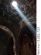 Монастырь Гегард, Армения. Луч Бога (2009 год). Стоковое фото, фотограф Андрей Щавелев / Фотобанк Лори