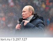 Купить «Владимир Путин», эксклюзивное фото № 3297127, снято 23 февраля 2012 г. (c) Владимир Катасонов / Фотобанк Лори