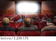Купить «Зрители в кинотеатре. Коллаж», фото № 3299175, снято 26 мая 2019 г. (c) Losevsky Pavel / Фотобанк Лори