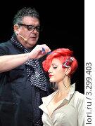 Купить «Тим Хартли делает укладку модели с красными волосами, шоу Davines 2010, Москва, Россия», фото № 3299403, снято 19 сентября 2019 г. (c) Losevsky Pavel / Фотобанк Лори