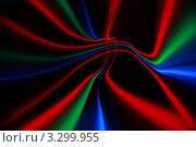 Купить «Черный фон со светящимися красными, зелеными и синими линиями», иллюстрация № 3299955 (c) Losevsky Pavel / Фотобанк Лори