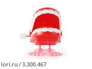 Купить «Заводная челюсть, изолированно на белом фоне», фото № 3300467, снято 28 сентября 2010 г. (c) Losevsky Pavel / Фотобанк Лори