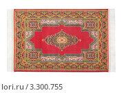 Купить «Красный ковер на белом фоне», фото № 3300755, снято 21 января 2011 г. (c) Losevsky Pavel / Фотобанк Лори
