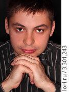 Купить «Портрет молодого человека в тёмной рубашке», фото № 3301243, снято 1 мая 2010 г. (c) Losevsky Pavel / Фотобанк Лори