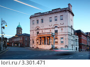 Купить «Городской пейзаж Дублина, Ирландия. Вид на Rates Office вечером», фото № 3301471, снято 11 июня 2010 г. (c) Losevsky Pavel / Фотобанк Лори