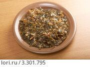 Купить «Салат из водоросли -морская капуста», фото № 3301795, снято 29 января 2012 г. (c) Александр Fanfo / Фотобанк Лори
