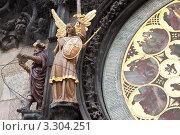 Купить «Фрагмент Астрономических часов в Праге», фото № 3304251, снято 19 ноября 2011 г. (c) Яков Филимонов / Фотобанк Лори