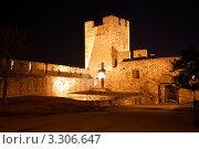 Купить «Крепость Калемегдан ночью, Белград, Сербия», фото № 3306647, снято 21 января 2012 г. (c) Светлана Колобова / Фотобанк Лори