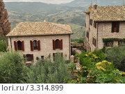 Итальянские дома г.Асизи (2011 год). Стоковое фото, фотограф Серебрякова Анастасия / Фотобанк Лори